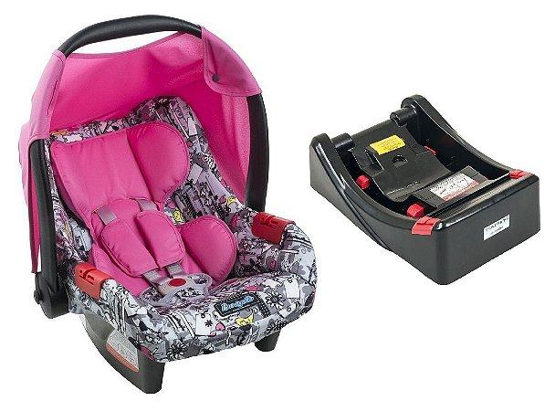 Bebê Conforto Touring Evolution Se com Base - Bike Rosa - Burigotto