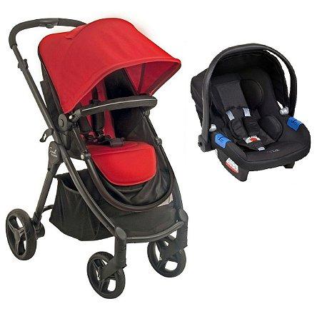 Carrinho de Bebê Soul e Bebê Conforto - Red Black - Burigotto