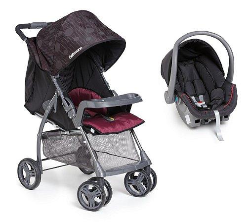 Carrinho de Bebê Travel System San Remo (até 15 kg) - Preto - Galzerano