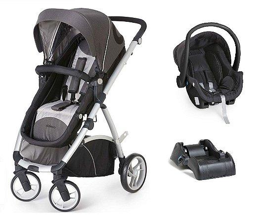 Carrinho de Bebê Travel System Mally com Base (até 15 kg) - Preto - Dzieco