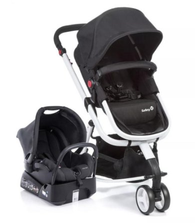 Carrinho de Bebê Travel System Mobi - Black And White - Safety 1st