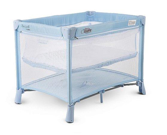 Berço Portátil New Berço Cuore (até 15 kg) - Azul - Burigotto