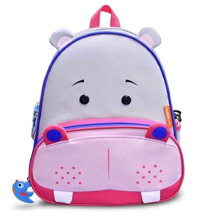 Mochila Infantil Let's GO! - Hipopótamo - Comtac Kids