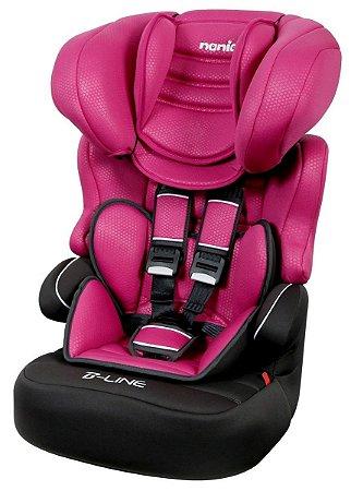 Cadeira para Auto Nania Beline Luxe (até 36 kg) - Framboise - Team Tex