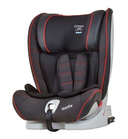 Cadeira para Carro Strada com Isofix (até 36 kg) - Preto e Vermelho - Burigotto