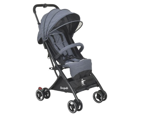Carrinho de Bebê It (até 15 kg) - Cinza - Burigotto