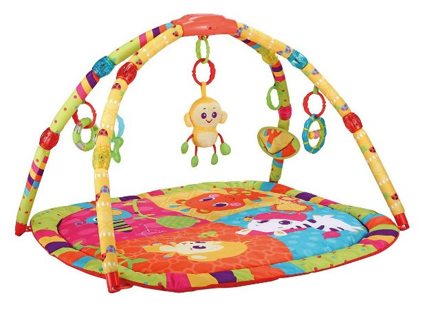 Tapete Infantil Colorido Musical Com Luzes Macaco - Mastela