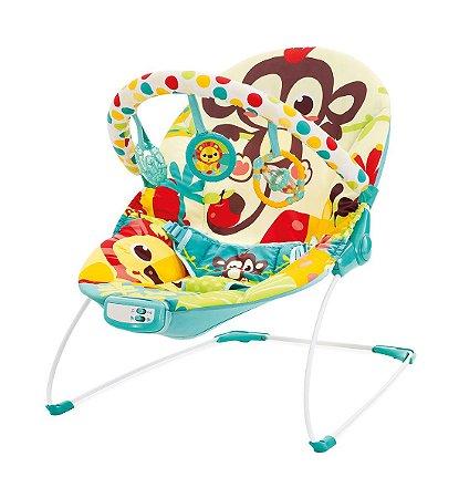 Cadeira de Descanso Vibratória e Musical (até 9 kg) - Macaco - Mastela