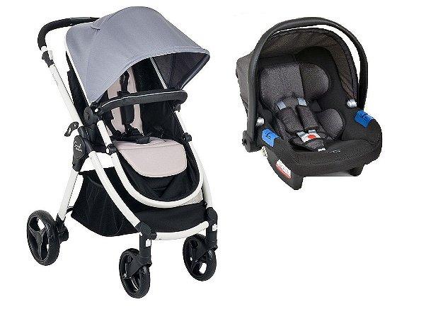 Carrinho de Bebê Travel System Soul (até 15 kg) - Cinza - Burigotto