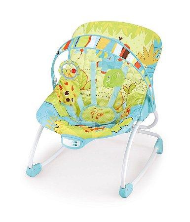 Cadeira de Descanso Vibratória Rocker (até 18 kg) - Verde e Azul - Mastela