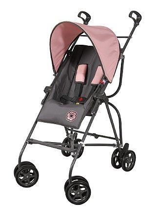 Carrinho de Bebê Capri - Grafite Rosa - Galzerano