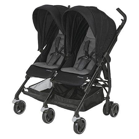 Carrinho de Bebê para Gêmeos Dana For2 (até 15 kg) - Nomad Black - Maxi.Cosi