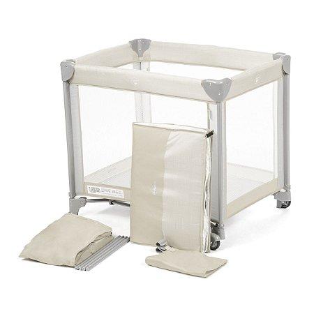 Berço Portátil Mini Play Pop (até 15 kg) - Beige -Safety 1st