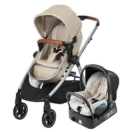 Carrinho de Bebê Travel System Anna com Base (até 15 kg) - Normad Sand - Maxi.Cosi