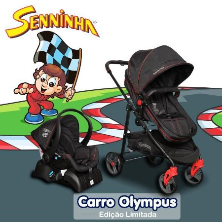 Carrinho Olympus Bebê Conforto e Base do Seninha - Galzerano