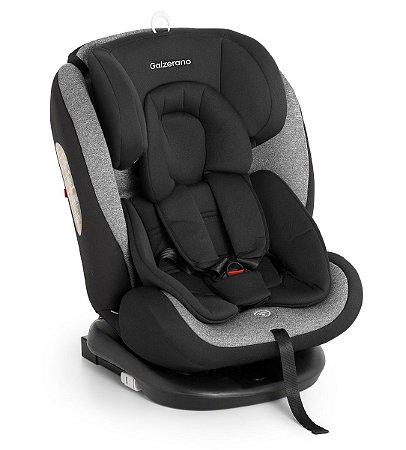 Cadeira de Carro Gaia com Isofix (até 36 kg) - Preto e Cinza - Galzerano