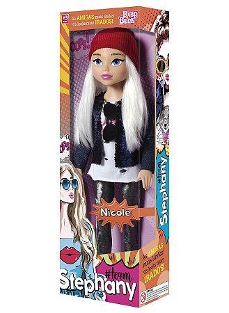 Boneca Nicole - Team Stephany - 53cm - Baby Brink