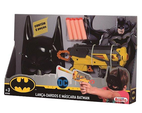 Lança-Dardos com Máscara (+3 anos) - Batman - DC - Brinquedos Rosita
