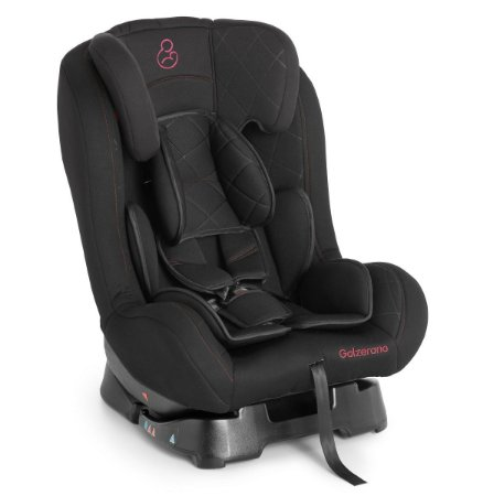 Cadeira para Carro Sirius (até 25 kg) - Preto e Vinho - Galzerano