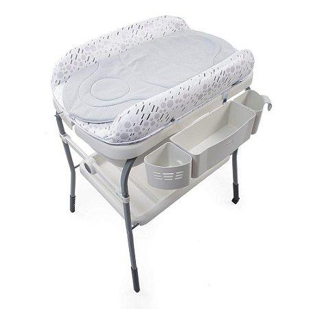 Banheira com Trocador Cuddle & Bubble Cool (até 11 kg) - Cinza - Chicco