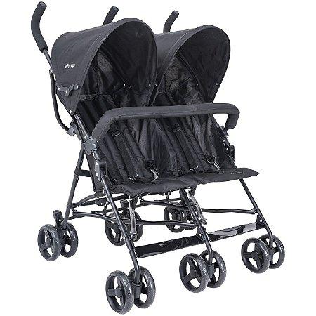 Carrinho de Bebê para Gêmeos Youme Whoop (até 15 kg) - Preto - Kiddo