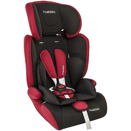 Cadeira para Carro Traveller (até 36 kg) - Preto e Vermelho - Kiddo