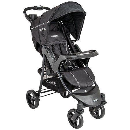 Carrinho de Bebê Omega Preto Black - Kiddo