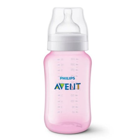Mamadeira Clássica PP Rosa 330ML (3m+) - Philips Avent