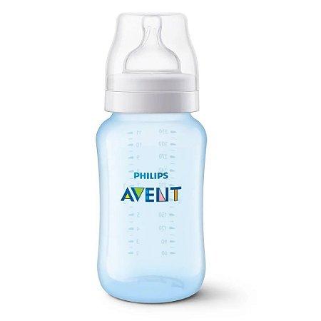 Mamadeira Clássica 330ml (+3M) - Azul - Philips Avent