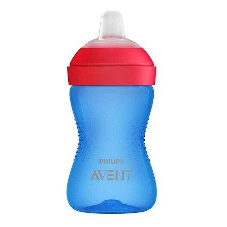 Copo com Bico Macio 300ml (+9M) - Azul e Vermelho - Philips Avent