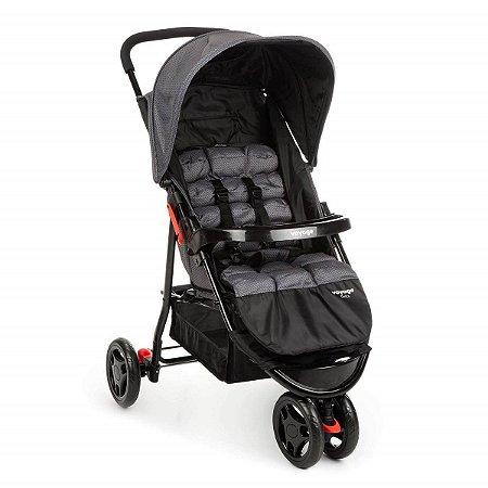 Carrinho de Bebê Delta (até 15 kg) - Cinza Grid - Voyage