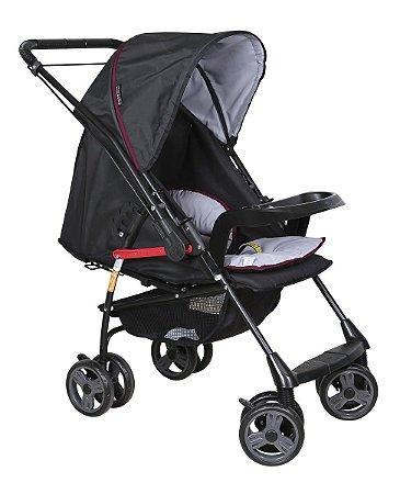 Carrinho De Bebê Milano Rever II Preto Preto - Galzerano