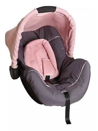Bebê Conforto Piccolina (até 13 kg) - Grafite e Rosa - Galzerano
