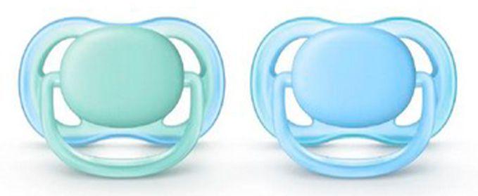 2 Un. Chupeta Ultra Air Tam.1 (+0M) - Azul e Verde - Philips Avent