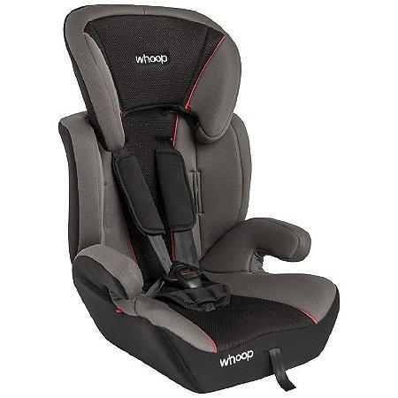 Cadeira para Auto Quest Whoop (9 à 36 kg) - Cinza e Preto - Kiddo
