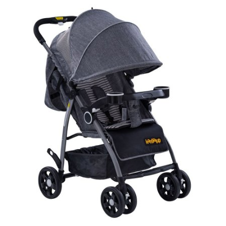 Carrinho de Bebê Hero! - Cinza - Kangalup