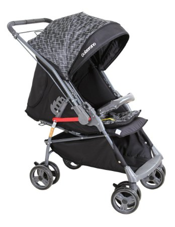 Carrinho de Bebê Maranello - Preto Cinza - Galzerano