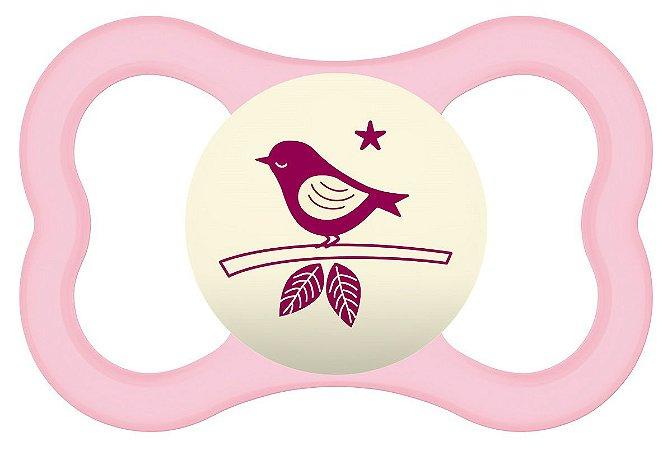 Chupeta Air Night (6+ meses) Rosa Pássaro - MAM