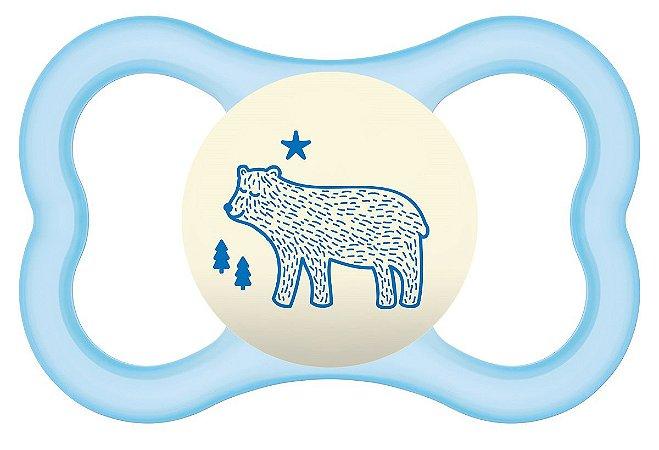 Chupeta Air Night Tam.2 (6+ Meses) Urso - MAM