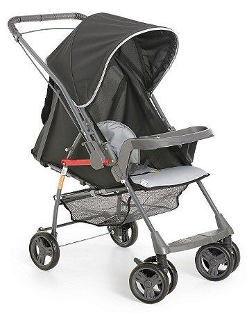 Carrinho de Bebê Sorano (até 15 kg) - Preto e Cinza - Galzerano