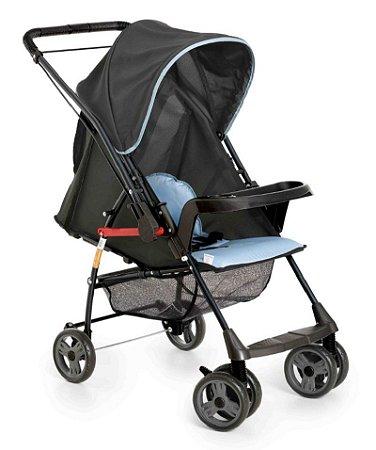 Carrinho de Bebê Sorano - Preto e Azul - Galzerano
