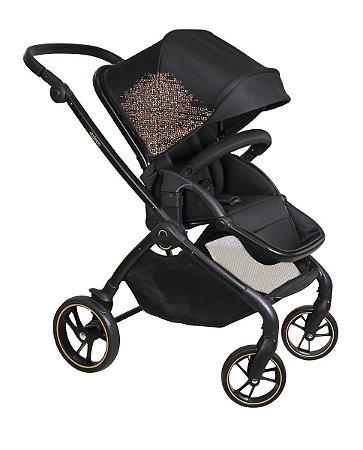 Carrinho de Bebê Rovy (até 15 kg) - Preto - Dzieco