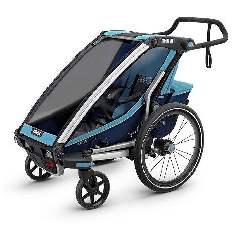 Carrinho de Bebê Multi. Chariot Cross.1 (até 15 kg) - Blue Poseidon - Thule