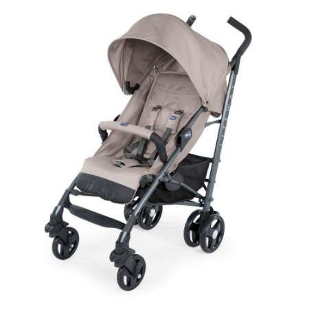 Carrinho de Bebê Lite Way 3 Basic (até 15 kg) - Dark Beige - Chicco