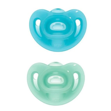 Chupeta Sensitive Embalagem Dupla (0-6m) Azul e Verde - Nuk