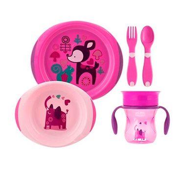 Conjunto de Alimentação (+12M) - Rosa - Chicco