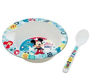 Conjunto de Alimentação com Prato e Colher (+6M) - Mickey - Lillo