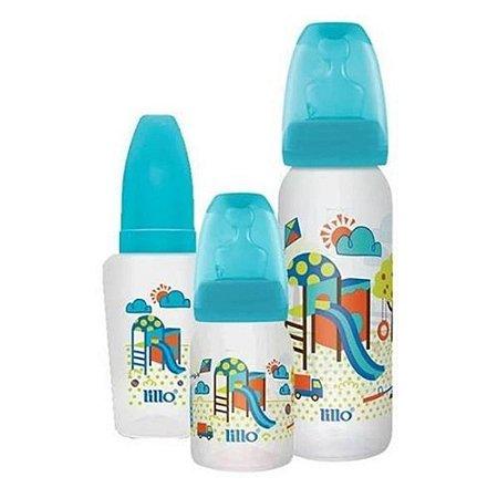 Kit Mamadeira Evolução Divertida Azul com 3 peças - Lillo