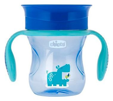 Copo Perfect Cup (+12M) - Hipopotamo Azul - Chicco