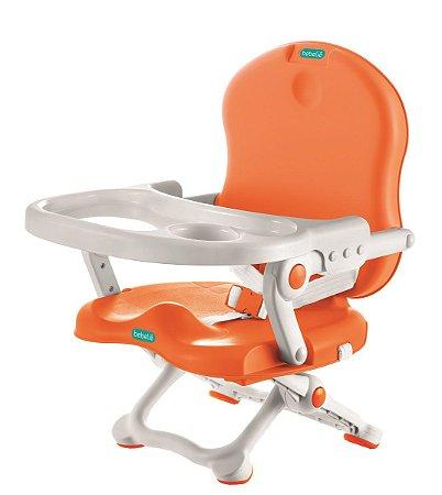 Cadeira de Alimentação Pocket Branco e Laranja - Bebeliê